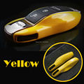 YELLOW Fishion Fob Remote Key Case Cover Case  for Porsc he boxster cayman 911 Cayenne