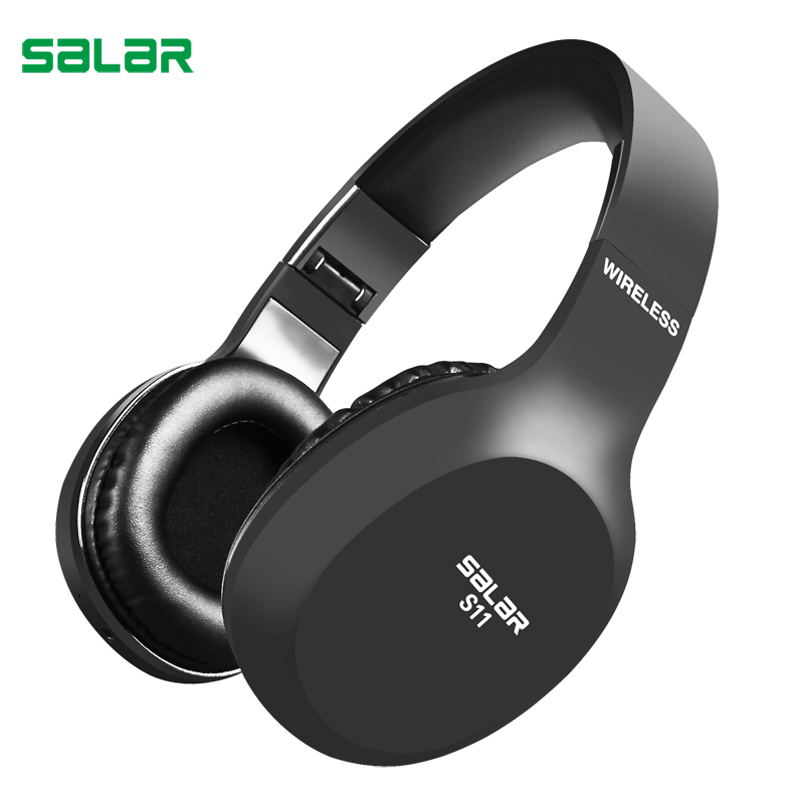 Salar S11 auricular inalámbrico plegable auriculares Bluetooth de juego del auricular con micrófono para PC de teléfono computadoras