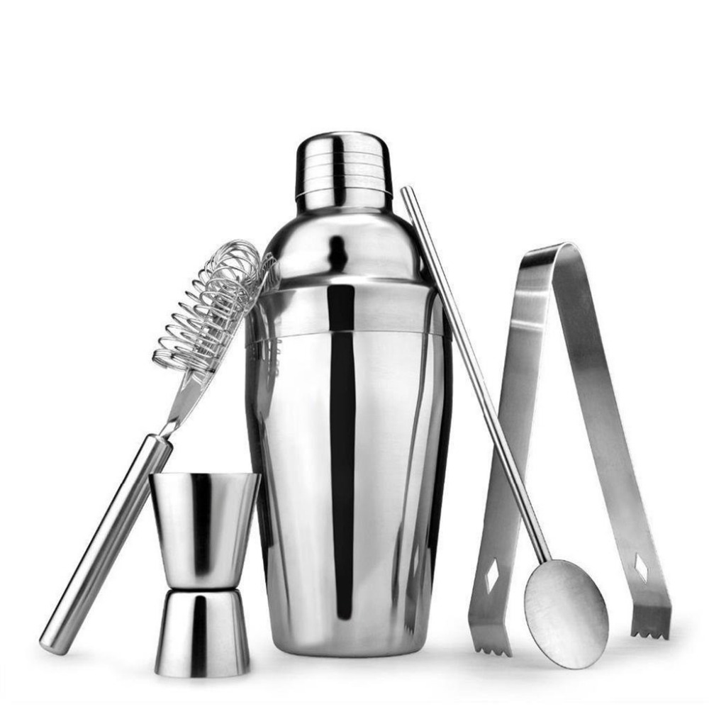 DROHOEY Cocktail Shaker Oțel inox Cocktail Whisk Bar Instrumente Martini Vin agitator Cocktail Shaker Unelte pentru Party 550ML 750ML