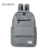 ZENBEFE Backpacks Unisex Shoulder School Bags For Teenagers Fashion Travel Bag Book Bags Student School Backpack