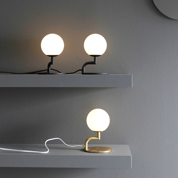 led g9 Postmodern Iron Glass Black Gold LED Lamp.LED Light.Table Light.Table Lamp.Desk Lamp.LED Desk Lamp For Bedroom Office