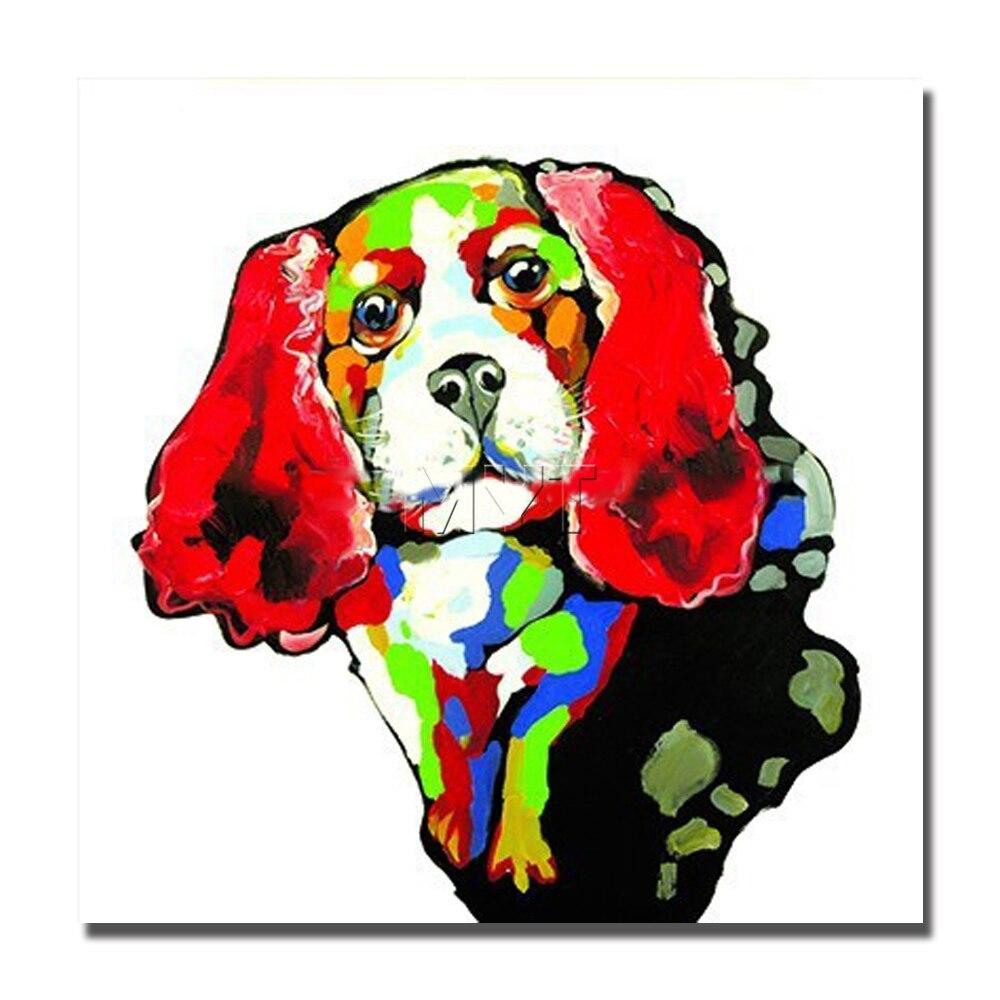 Рыжие волосы собака не оформлена и с оформлена масло Холсты для рисования оптовая продажа дешевые современные Картины для украшения комнат...