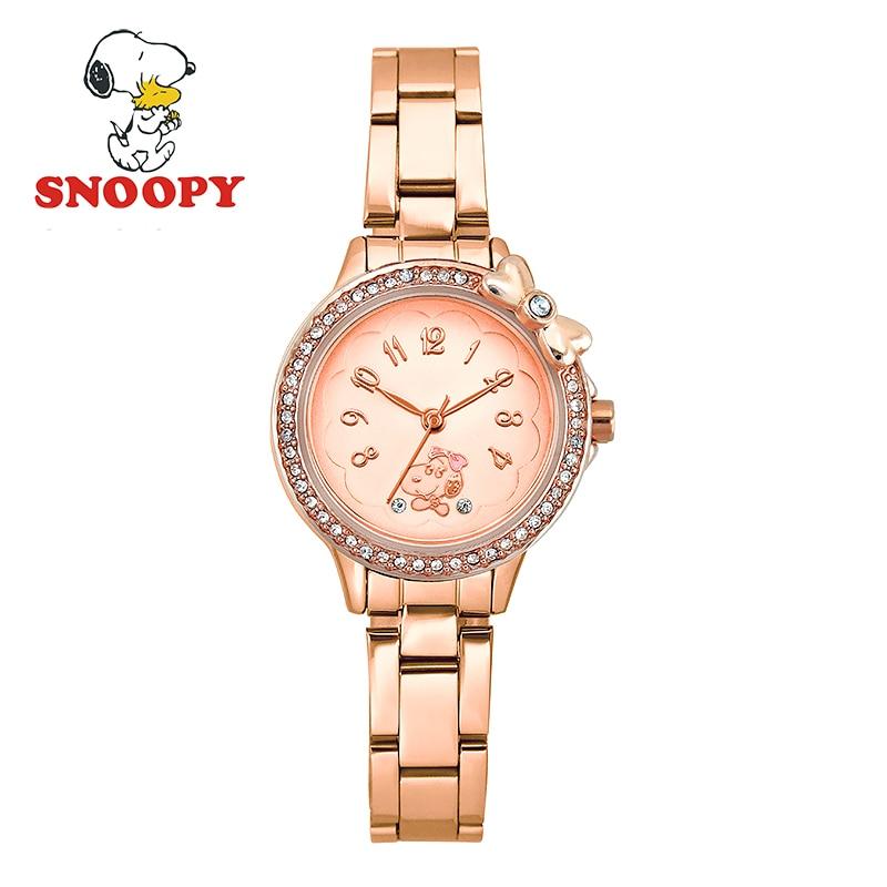 Snoopy Kids Watch Children Watch Casual Fashion Cute Quartz Wristwatches Girls Clock