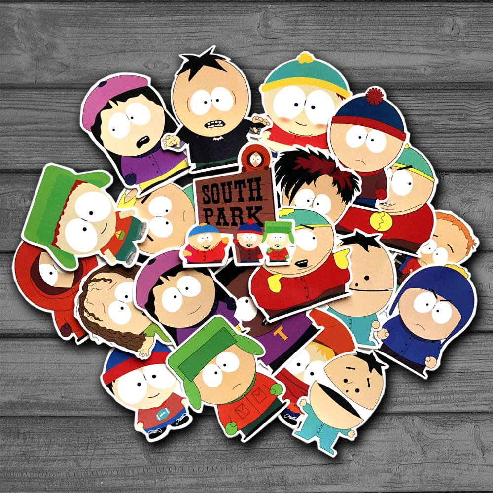 21Pcs/lot American Drama Cartoon Stan Funny Sticker Decal For Kids Toys Car Laptop Bicycle Notebook Backpack Waterproof Stickers