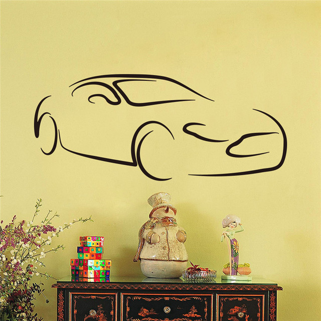 Cars Muurstickers Kinderkamer.Us 7 01 Vinyl Cartoon Cars Kind Kamer Muurstickers Voor Kinderkamer Jongen Slaapkamer Muurstickers Poster 3d Auto Muursticker Behang In Vinyl