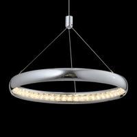 LED Single Layer Light Crystal Chandelier Luxury Chrome Aluminum Lamp Body For Dining Room Bedroom Hanging Indoor Lighting