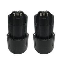 2Pcs Lot BAT411 Power Tools Battery For Bosch 10 8V 2000mAh Drill 2 607 336 013