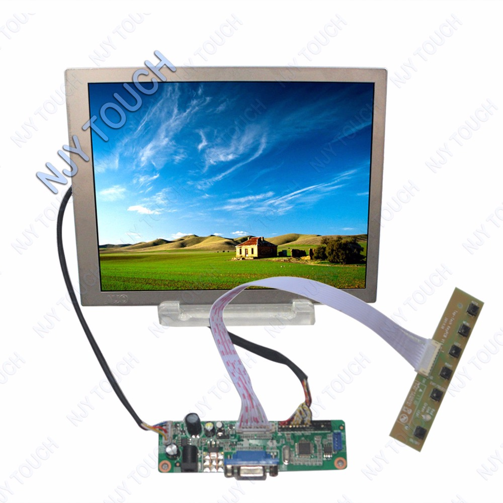 VGA LVDS LCD Controller Board DIY kit Plus 6.5inch TFT AUO G065VN01 V2 640x480 20pin LCD Screen auo 10 4 inch tft a104sn03 v1 lcd screen driver board