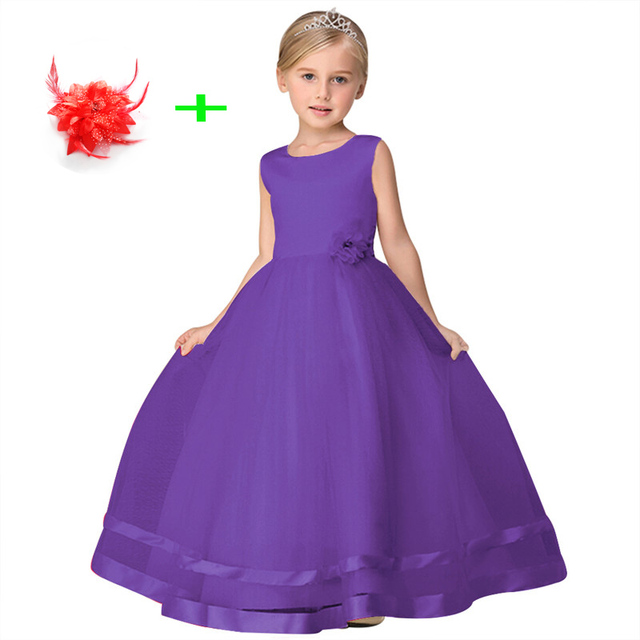 Children Formal Clothes Sleeveless Princess Dresses To Wear A Wedding Kid Baby Party Flower