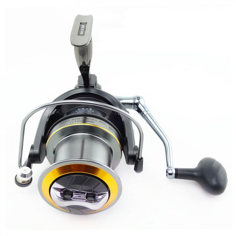 цена на Full Metal Spool Fishing Reel 8000-12000 Series 10+1BB 4.7:1 Jigging Trolling Casting Saltwater Surf Big Sea Spinning Wheel