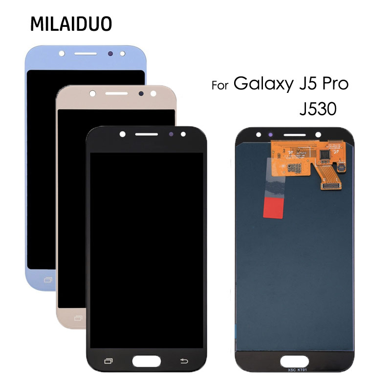 <font><b>LCD</b></font> Display For SAMSUNG GALAXY <font><b>J5</b></font> <font><b>Pro</b></font> 2017 J530 J530Y J530M J530F SM-J530F Touch Screen Digitizer TFT Assembly Adjust Brightness image