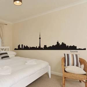 Toronto naklejka z motywem miasta Landmark Skyline naklejki na ścianę szkic plakat z kaczkami Parede naklejka dekoracyjna do domu
