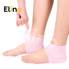 Elino Moisturizing Gel Heel Socks Pad for Men Women Anti-cra