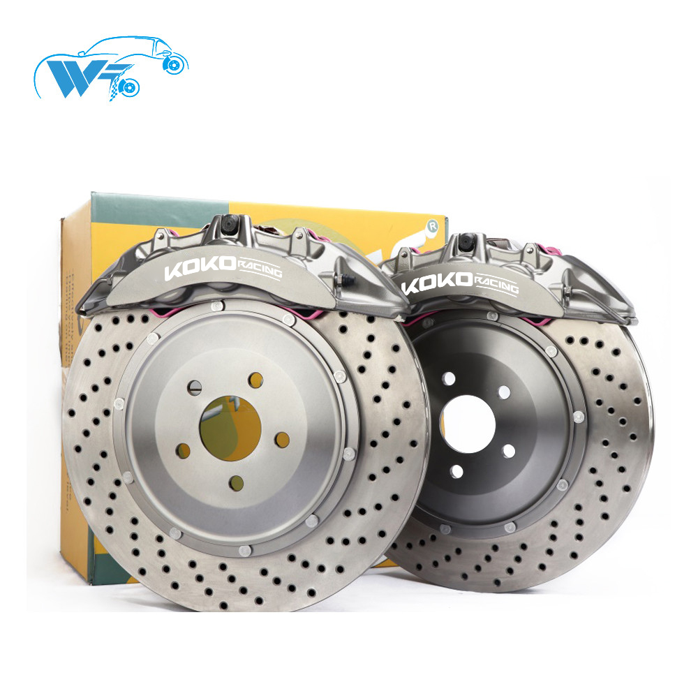 KOKO RACING newest brake system 2019 siliver color caliper 6 big piston 380*32mm drilled cars brake disc for BMW m3 e92