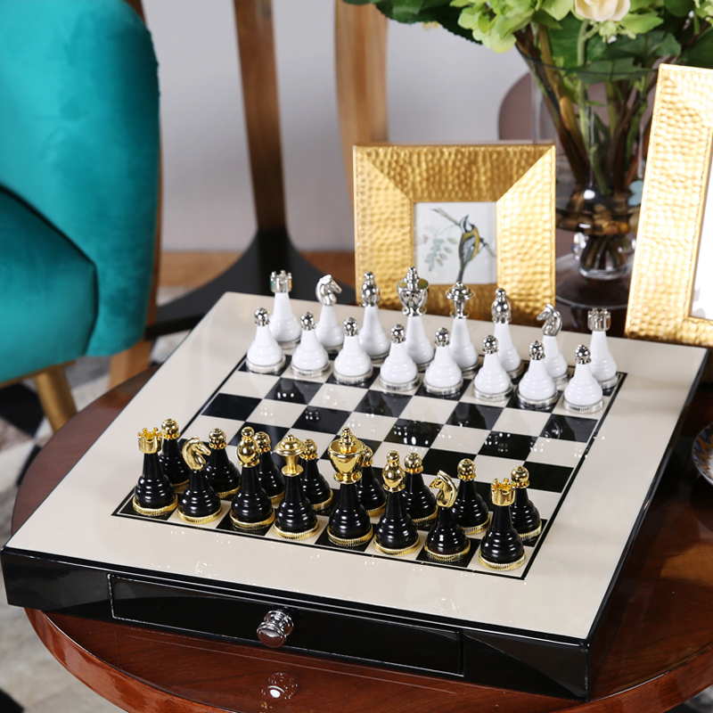 Chess set top quality mental wooden chess chessman nice - Chess nice image ...