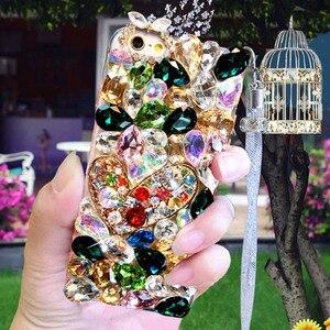 Image 3 - Lüks kristal renkli taş için elmas durumda Huawei onur 9X Pro 8X Max 7X 20 Pro ben 10 9 8lite V20 30 Note8 telefon kılıfı