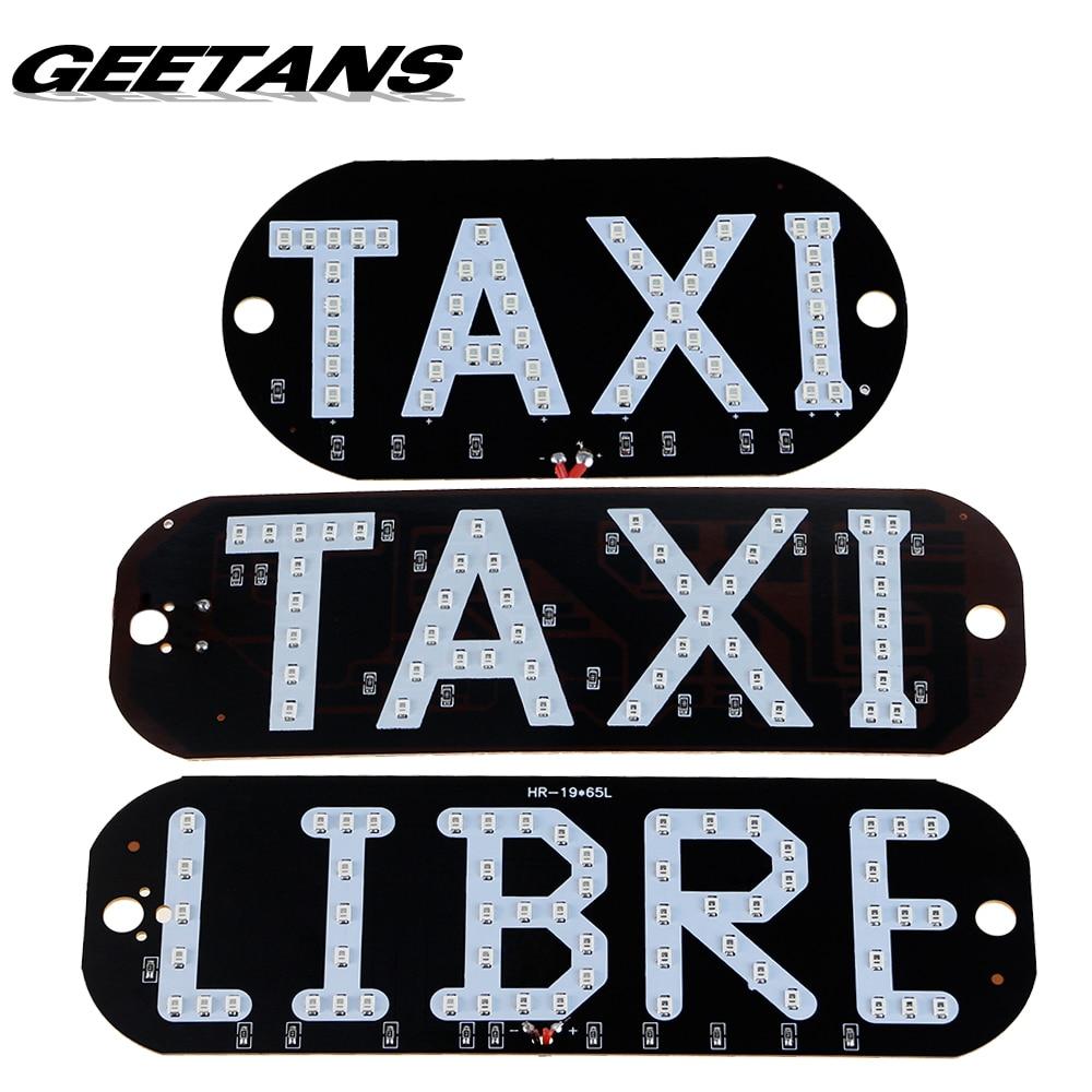 GEETANS 1pcs Taxi Libre Led license plate carligh Windscreen Cab indicator inside Lamp Signal Light Windshield Lamp 12V BE