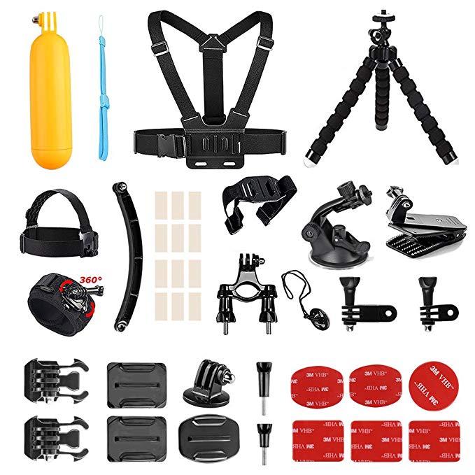 AKASO Sports Action Camera Accessories Kit 14 in 1 for AKASO EK7000/ EK7000 Plus/ EK7000 Pro/Brave 4/ V50/ V50 Pro/ V50