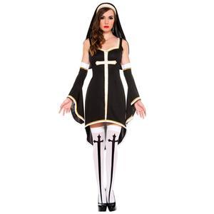 Image 2 - נשים סקסי רע הרגל נון תלבושות הנוצרי מיסיונרית תחפושת