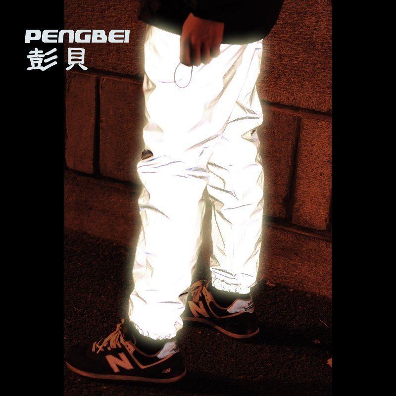 2020 Men With Velvet Pants Of 3 M Reflective Fashion Feet Mouth High Quality Reflective Trousers