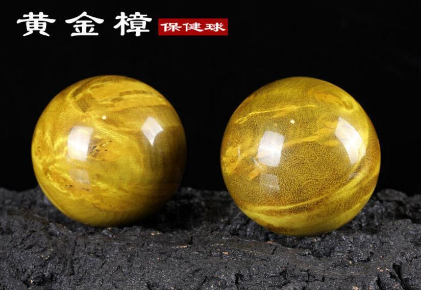 Gold camphorwood Handball Massage Health Care Ball Health Exersice Stress Relief все цены