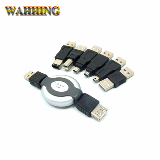 New 6 in 1 USB to Firewire IEEE 1394 Connector Kit 1394 4Pin 5Pin ...