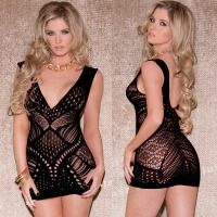 Exotic Apparel Women Baby Dolls Exotic Dress sexy lingerie sex costumes hollow nightwear intimates half slip  Backless underwear