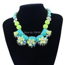 Новые Марка Мода Каменные Цепи с Каменный Цветок Подвеска Колье Себе Ожерелье для Женщин