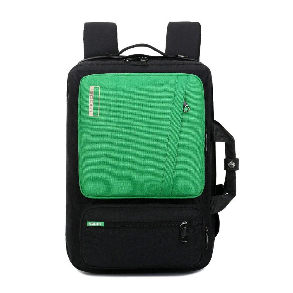 Laptop Backpack 15 15.4 15.6 17 17.3 Inch Multifunction Briefcase/shoulder bag/handbag Travel school Bag For man(SH668 Green)