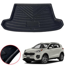 Car Rear Trunk Cargo Mat Floor Liner Carpet Tray Pad For Kia Sportage QL 2016 2017 2018 Car-covers Styling Accessories boomblock for audi q7 2016 2017 2018 waterproof anti slip car trunk mat tray floor carpet pad protector auto accessories