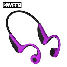 New S.Wear Z8 Wireless Bluetooth Bone Conduction Headset Handfree Earphone Sport