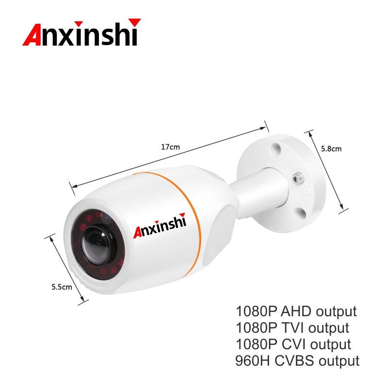 2 0MP 180Degree Fisheye HD AHD CameraIndoor Waterproof Bullet Safety font b outdoor b font CCTV