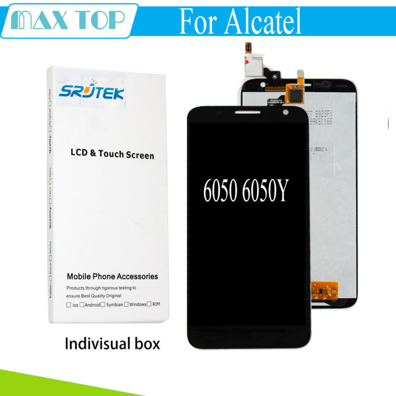 Black For Alcatel Idol 2S 6050 6050Y LCD Display with Touch Screen Digitizer Sensor NEW Screen Replacement Parts lcd screen for alcatel idol 2 s ot6050 6050 6050a 6050y idol 2s lcd display touch screen digitizer assembly free shipping