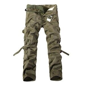 Image 3 - Top qualität männer military camo cargo hosen freizeit baumwolle hosen cmbat camouflage overalls 28 40 AYG69