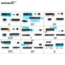 1 полный комплект противопылевая сетка для iPhone X 5 5S 6 6s 7 8 plus противопылевая сетка для экрана+ резиновая прокладка микрофон противопылевая сетка