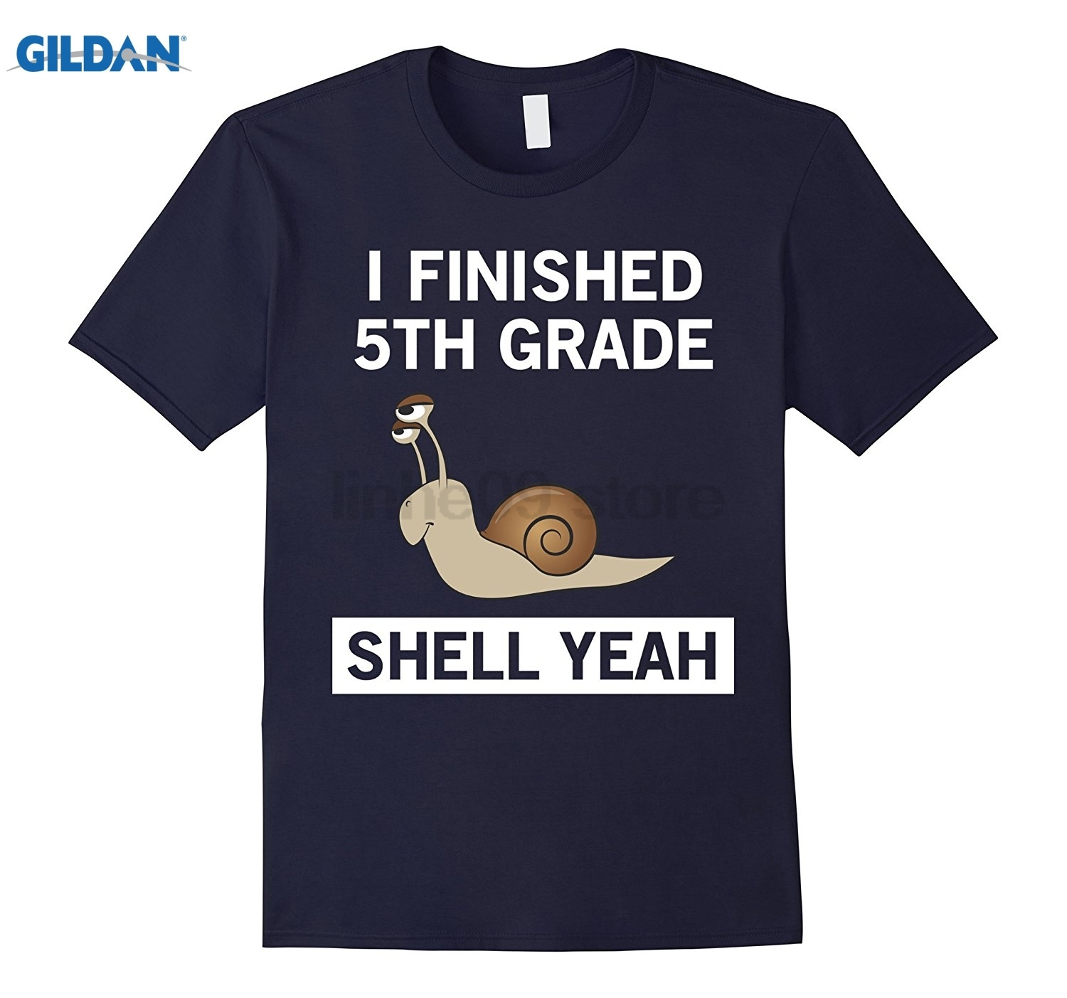 GILDAN Funny I Finished 5th Grade Shell Yeah Graduation T-Shirt Womens T-shirt