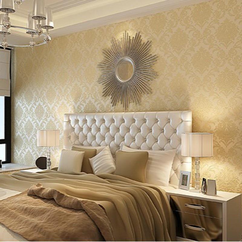 beibehang simple European high-grade non-woven wallpaper bedroom living room wallpaper shop for models with AB papel de parede