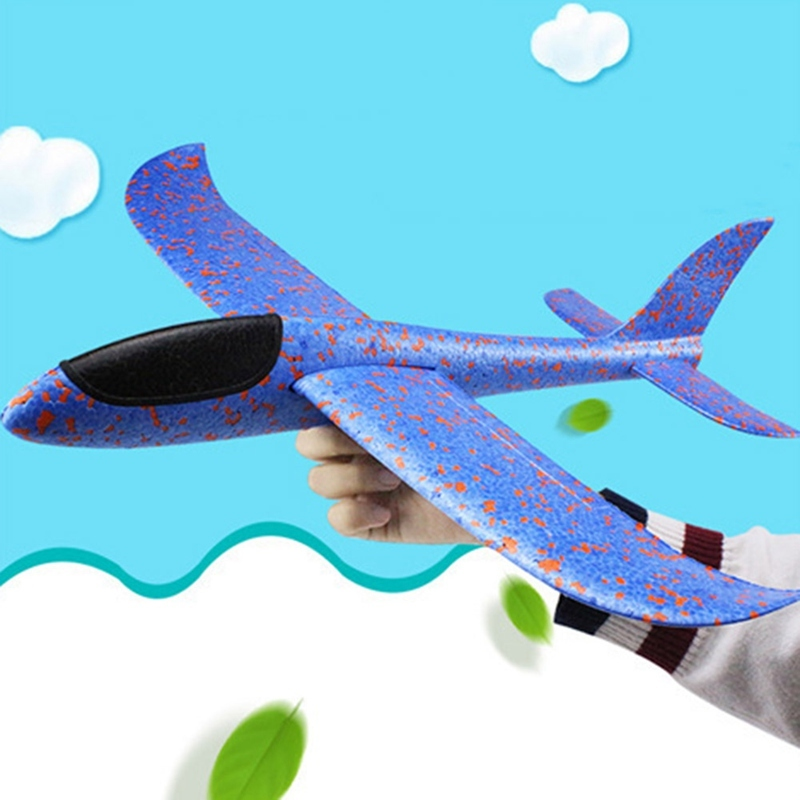 2018 Hand Launch Throwing Glider Plans Inertia Foam Aircraft Toys Aircraft Model For Children Outdoor Toy Random Color