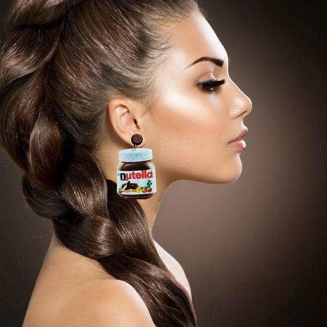 Exaggerated Funny Chocolate Cream Bottle Acrylic Drop Earrings Lovely Food Dangle Earrings Fashion Jewelry Brincos for.jpg 640x640 - Exaggerated Funny Chocolate Cream Bottle Acrylic Drop Earrings Lovely Food Dangle Earrings Fashion Jewelry Brincos for Female