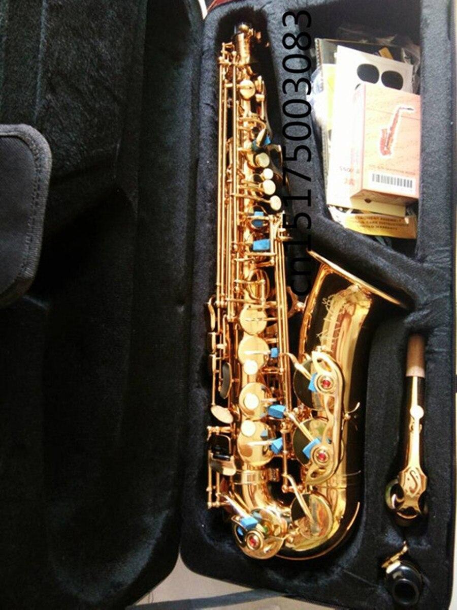 custom brand alto saxophone wholesale prices electrophoresis gold r54 model instrument e flat. Black Bedroom Furniture Sets. Home Design Ideas