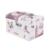 Wenjie hermano alta atendido flor búho diseño conforman Cuadro Bolsa de Cosméticos Caja de maquillaje Caso de La Belleza vestido De Múltiples Capas Joyero Con Cerradura caja