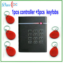 DWE CC RF Single door standalone access controller with 5pcs key tag free of charge