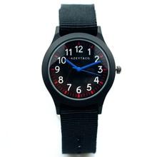 promotion midlle and little student black nylon strap quartz watch
