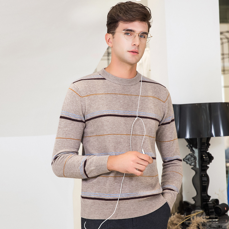Pullover Men Male Casual Wool Sweater Man Stripe Solid Color Comfortable Mens Half Turtleneck Sweater Slim Fit Knitted Top XXXL
