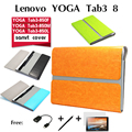 For Lenovo Yoga tab3 cases YT3 850F/M/L carrying case 8 inch tablet bladder package Leather Cover Stand Holder Pouch Case