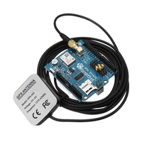 6M GPS Shield Expansion Board With SD Card Slot Active GPS Antenna Module