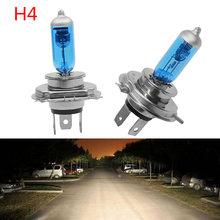 2 pces h4 55 w/100 w halogênio 6000 k alto baixo feixe de luz do farol lâmpada carro auto p43t 6000 k 12 v xenon branco 9003 lâmpada