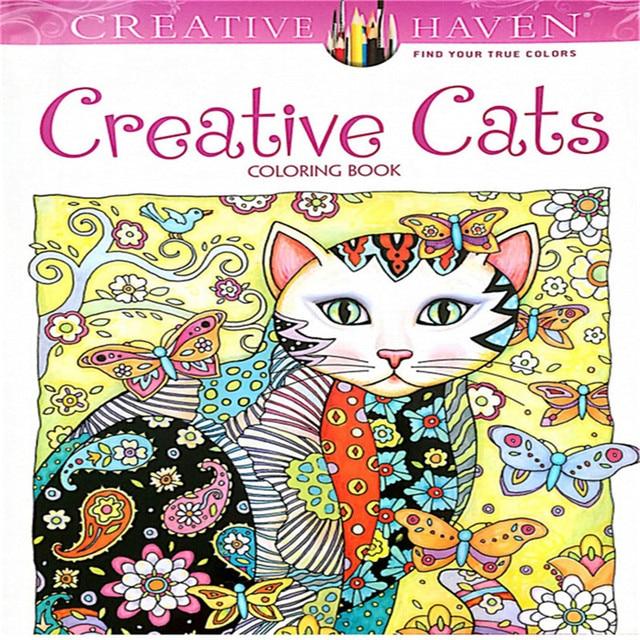 24 páginas creativo Gatos libro para colorear para niños AntiStress ...