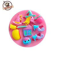 WIILII 3D Cooking Tools Decoration Silicone Mold DIY Head Fondant Sugar Craft Baking Tools For Cakes