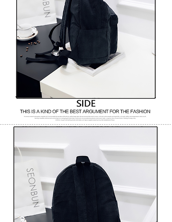 HTB1X XOM3HqK1RjSZJnq6zNLpXaB 2019 New Corduroy Women Backpack Pure Color Women Travel Bag Fashion Double Backpack Female Mochila Bagpack Pack Design